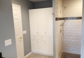 bathroom entry and shower